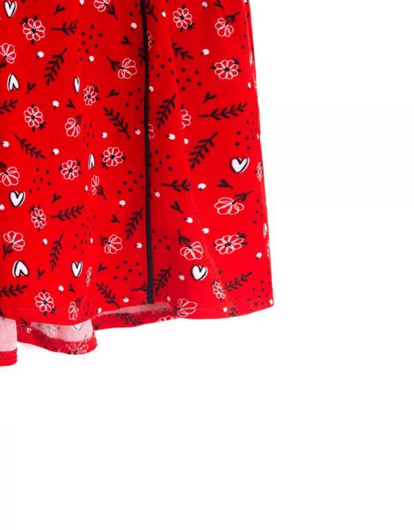 dievčenské šaty červené 80 98