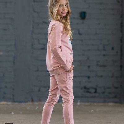 dievčenské nohavice ružové