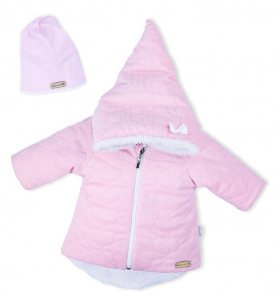 Zimný dojčenský kabátik s kapucňou Nicol
