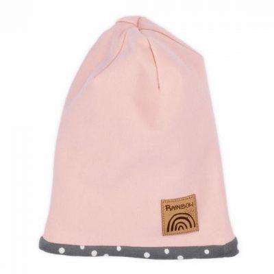 dievčenská čiapka prechodná ružová Nicol