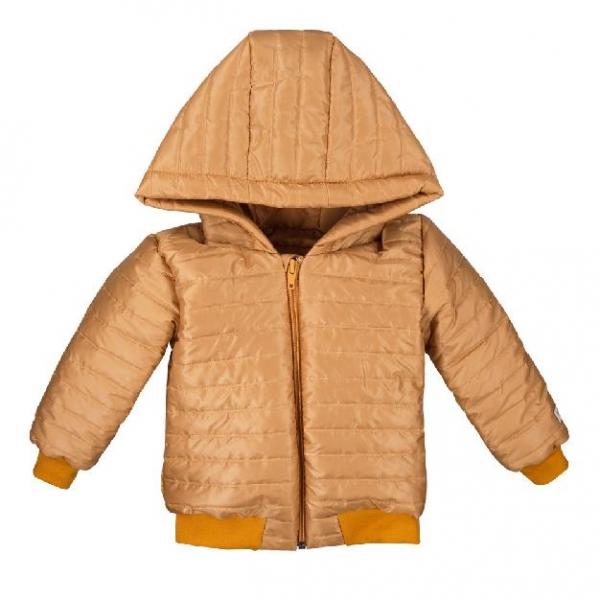 detská bunda horčicová