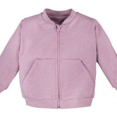 dievčenská mikina na zips ružová