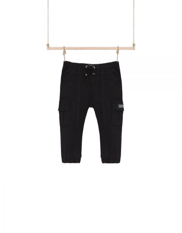 Chlapčenské kapsáčové nohavice čierne