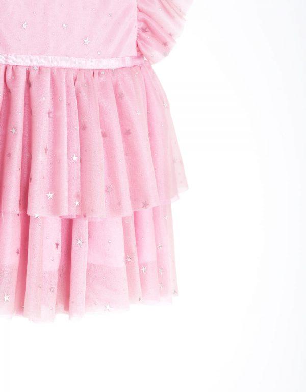 Dievčenské spoločenské šaty ružové