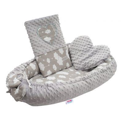 Luxusné hniezdočko s vankúšikom a perinkou New Baby Obláčik