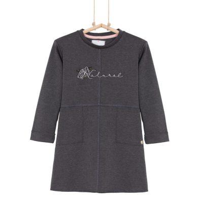 Dievčenské šaty sivé BRIGITTE