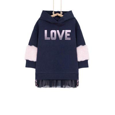 Dievčenské mikinové šaty JANA