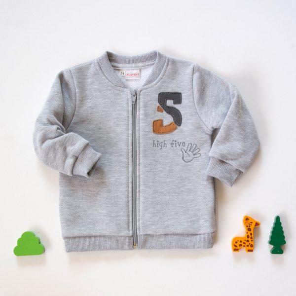 Dojčenská mikina na zips bez kapucne