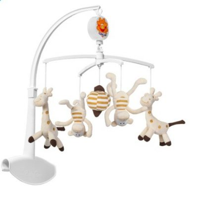 BABYONO Kolotoč hudobný - žirafa+opica