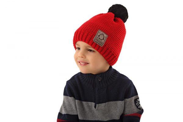 detská zimná čiapka červená