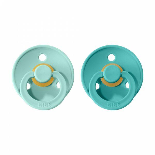 Bibs cumlíky kaučuk 2ks Mint Turquoise veľ. 1