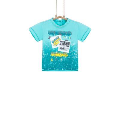 Detské tričko tyrkysové Bebakids Tobi
