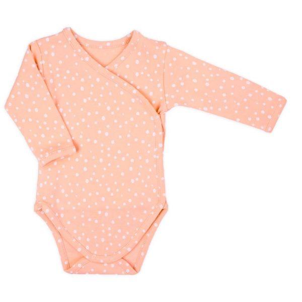 Dojčenské body s bočným zapínaním Nicol Rainbow ružové