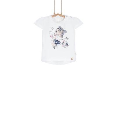 dievčenské tričko s krátkym rukávom 80 86 92 98