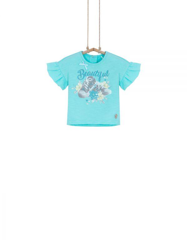 dievčenské tričko tyrkysové