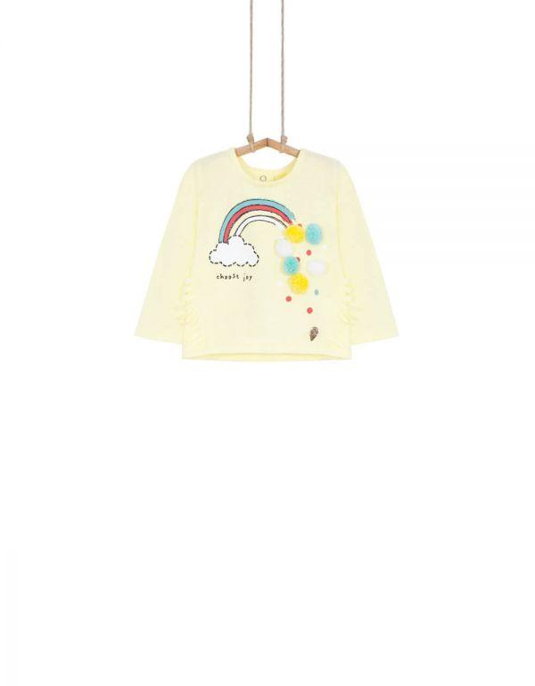 Dievčenské tričko BEBAKIDS Tanja žlté