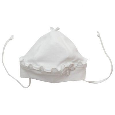 Dojčenská bavlnená čiapka MARKA Richelieu biela