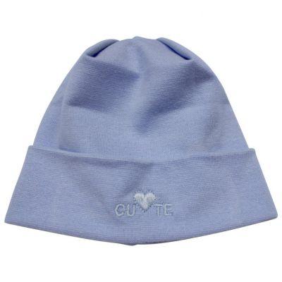 Dojčenská čiapka CUTE Richelieu modrá