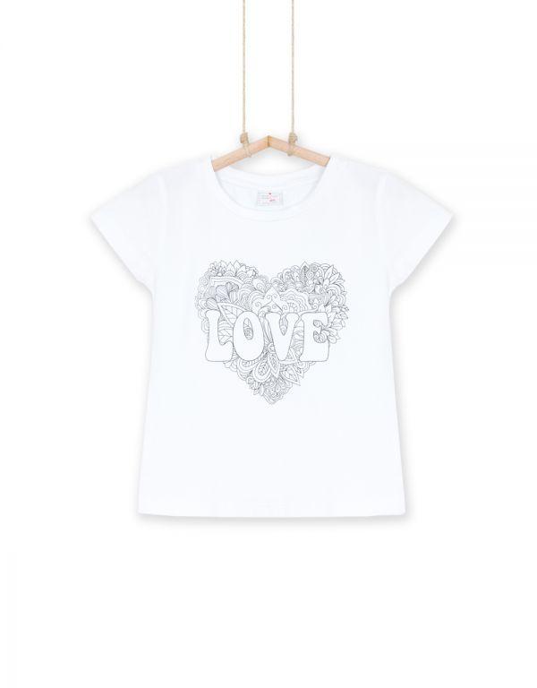 dievčenské tričko Love biele