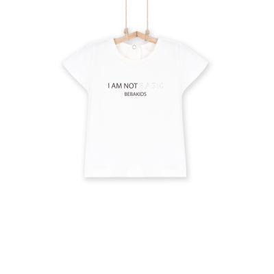 Dievčenské tričko BEBAKIDS Basic KREM BELA