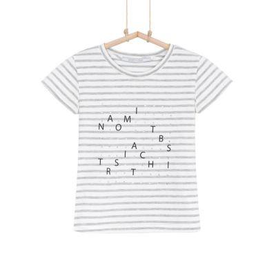 Dievčenské tričko pásikavé BEBAKIDS BASIC