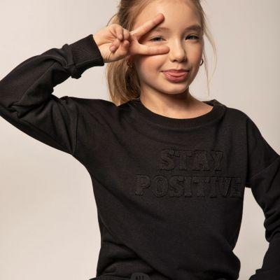 dievčenská mikina čierna All for Kids