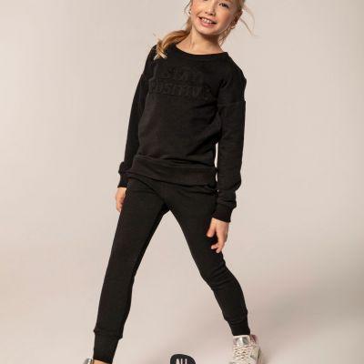 dievčenská tepláková súprava čierna All for Kids