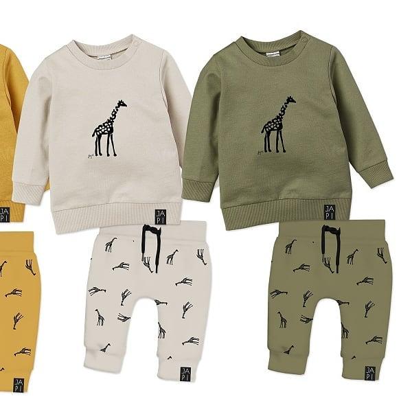 Dojčenské tričko a tepláky JAPITEX GIRAFFE