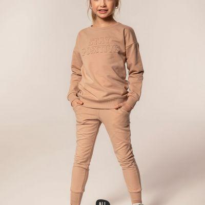 dievčenské tepláky mikina All for kids béžová
