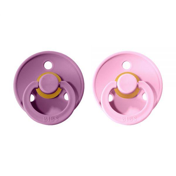 BIBS Colour cumlíky z prírodného kaučuku 2ks - Lavender / Baby Pink