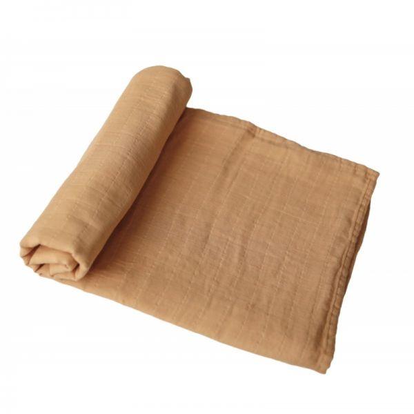 Mushie mušelínová zavinovačka z organickej bavlny – Yellow