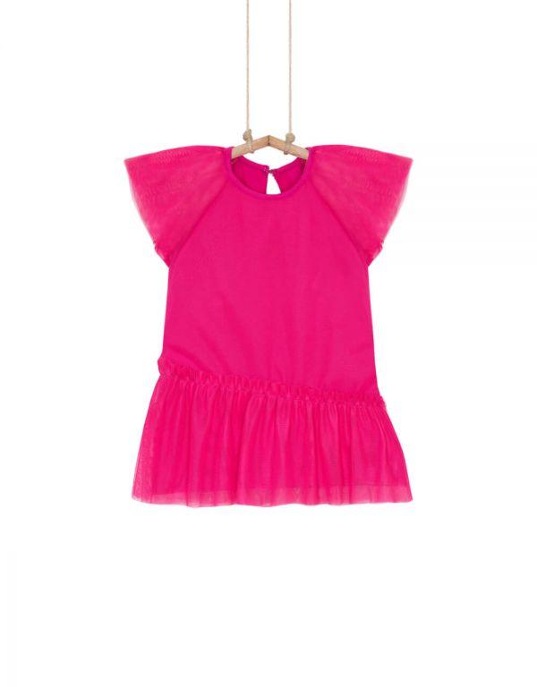 Dievčenské šaty Bebakids HILARI cyklámenové