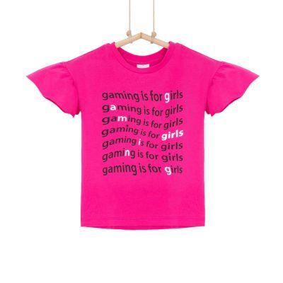 dievčenské tričko cyklámenové