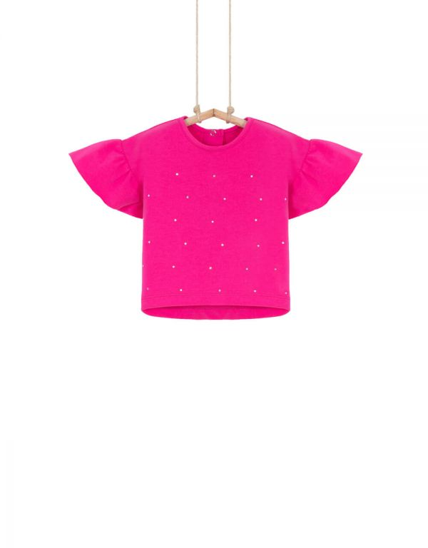 Dievčenské tričko s krátkym volánovým rukávom HOLI