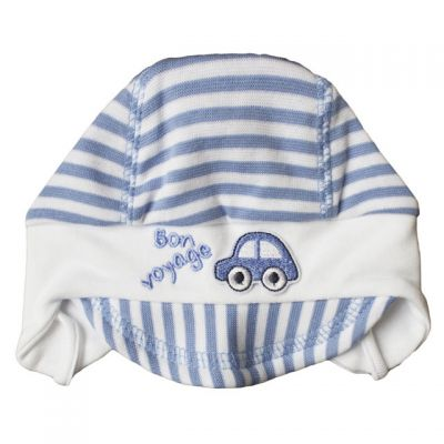 Dojčenská čiapka so šiltom BON VOYAGE Richelieu bielomodrá