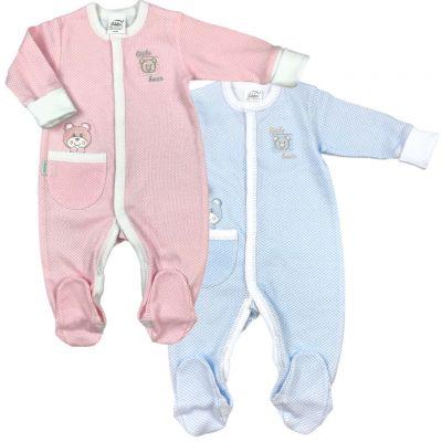 Dojčenský overal MACÍK Richelieu modrý