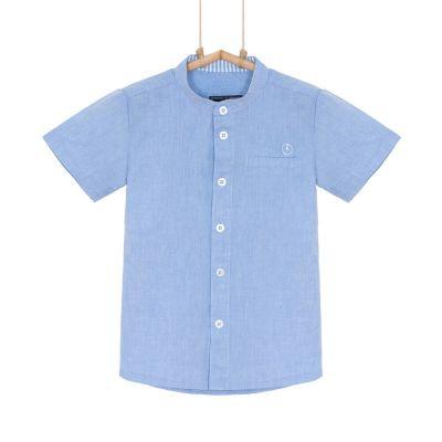 chlapčenská košeľa s krátkym rukávom modrá