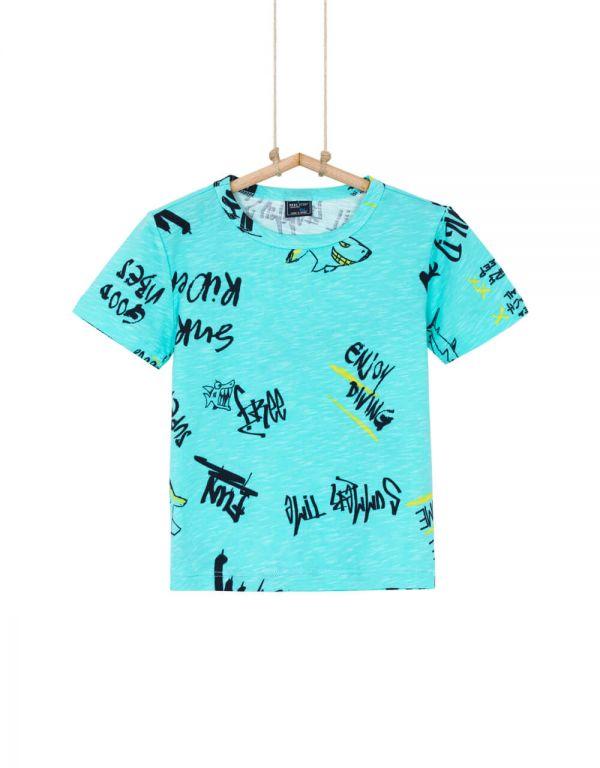 chlapčenské tričko 116 128 134 146 152 164 tyrkys