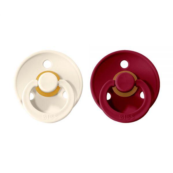 BIBS Colour cumlíky z rírodného kaučuku 2ks - Ivory / Ruby