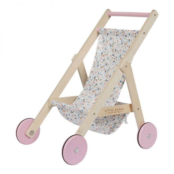 LITTLE DUTCH Drevený kočiarik pre bábiku