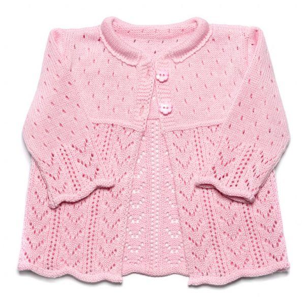 Dojčenský pletený svetrík Sunny ružový