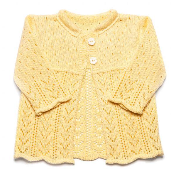 Pletený svetrík Sunny - žltý