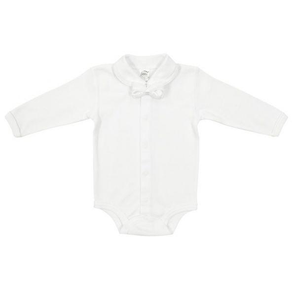 Dojčenské body ELEGÁN Richelieu biele