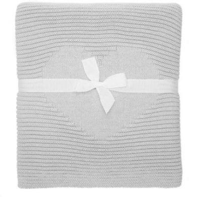 Lumima detská pletená deka Love sivá