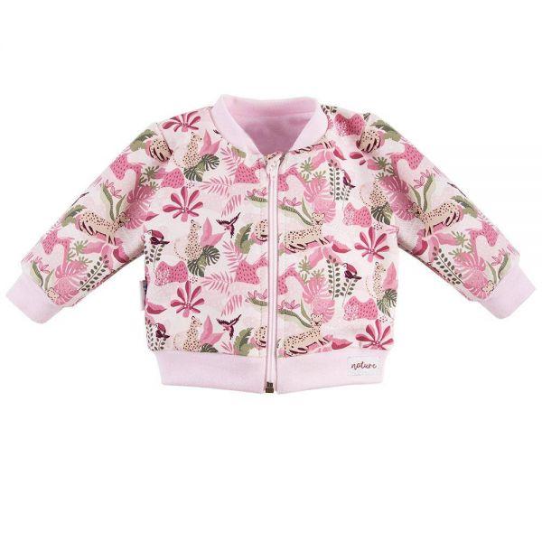ružová dievčenská mikina Eevi Nature