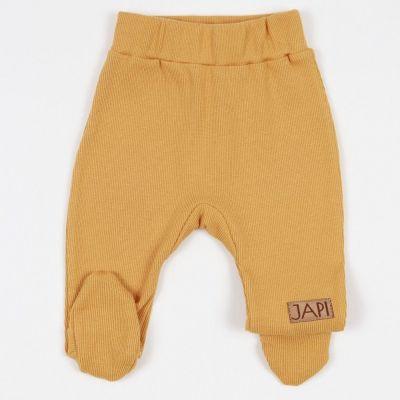 Dojčenské poldupačky BASIC Japitex horčicové