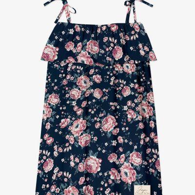 Letné šaty na ramienka JAPITEX ROSES VOLAN