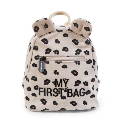 Childhome Detský batoh My First Bag Canvas Leopard