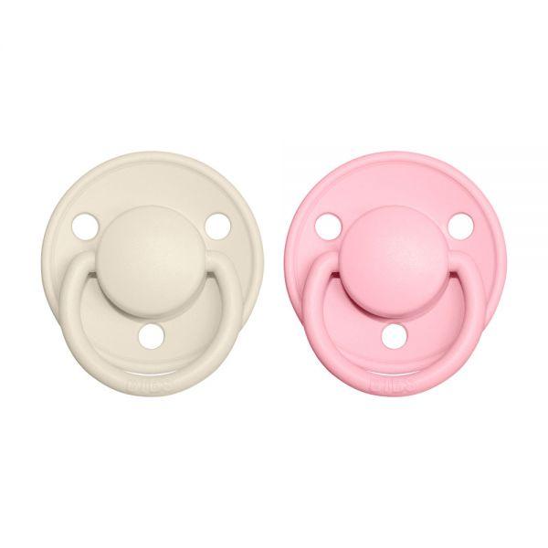 BIBS De Lux cumlíky 2ks Ivory / Baby Pink