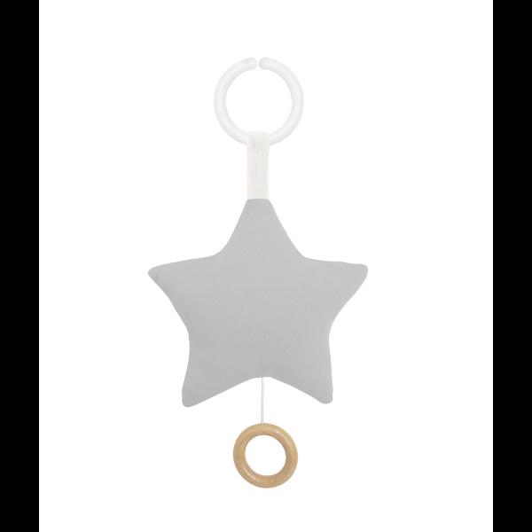 JaBaDaBaDo Hudobná hračka hviezda sivá